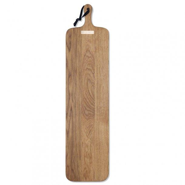 Dutchdeluxes Skærebræt XL Slim Fit Solid Olieret Egetræ 19 x 70 cm