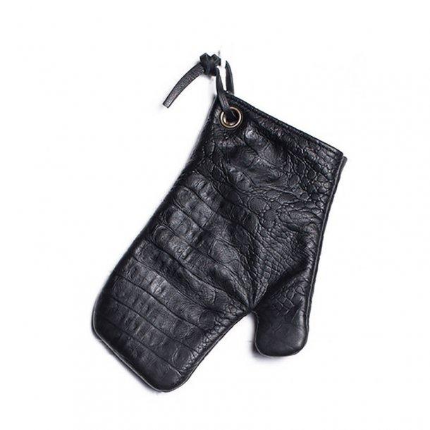 Dutchdeluxes Ultimate Ovnhandske 100% Læder Croco Black