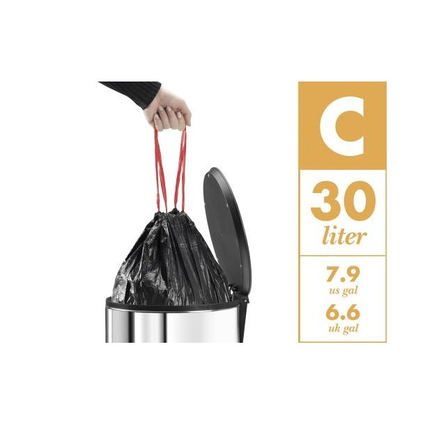 Hailo Affaldsposer 15 stk 30 liter