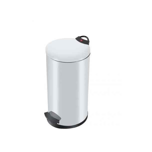 Hailo T2 Pedalspand 20 Liter - Hvid
