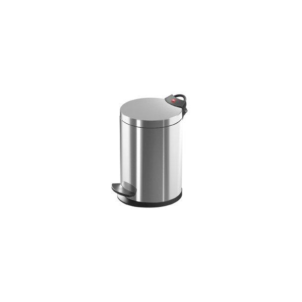 Hailo T2.4 Pedalspand Rustfrit Stål Anti-Fingeraftryk, 4 Liter