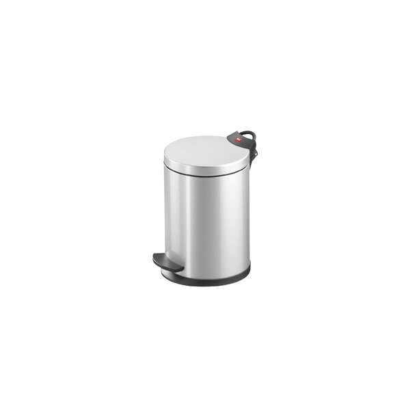 Hailo T2.4 Pedalspand Silver, 4 Liter