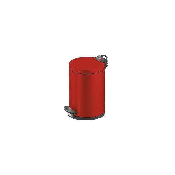 Hailo T2.4 Pedalspand 4 Liter - Rød