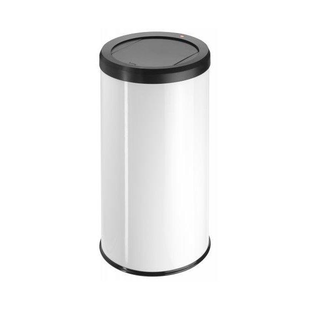 Hailo BigBin Affaldsspand Med Swing Låg 45 Liter - Hvid