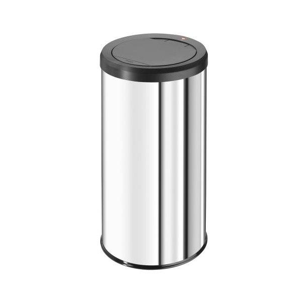Hailo BigBin Affaldsspand Med Touch Låg - Rustfrit Stål, 45 Liter