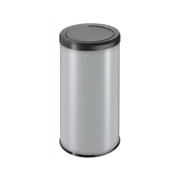 Hailo BigBin Affaldsspand Med Touch Låg - Silver, 45 Liter