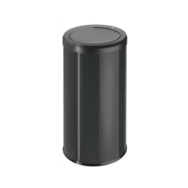 Hailo BigBin Affaldsspand Med Touch Låg - Sort, 45 Liter