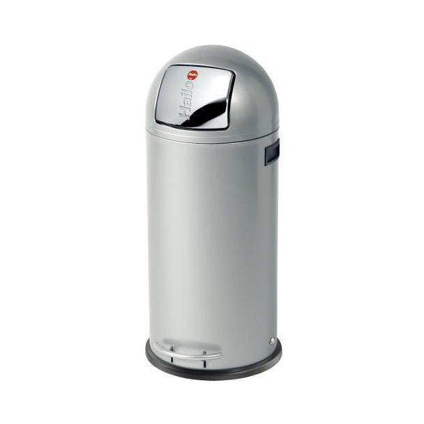 Hailo KickMaxx 50 Liter Affaldsspand, Silver