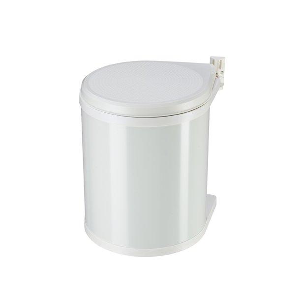 Køb Hailo Compact-Box 15 L Affaldsspand til Køkkenskab, Hvid, SE HER➤