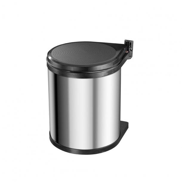Hailo Compact-Box - Affaldsspand til Køkkenskab - Rustfrit Stål, 15 Liter