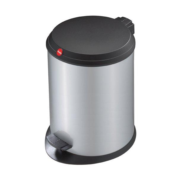 Hailo T1. Pedalspand 13 Liter Med Plastik Låg - Silver