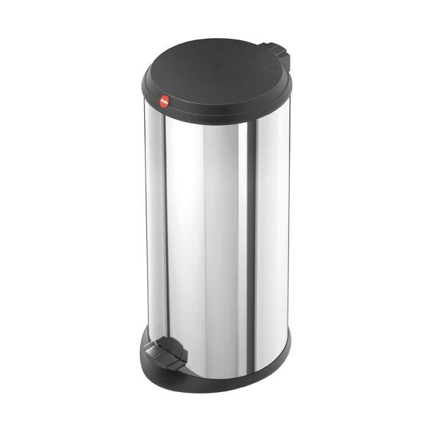 Hailo T1. Pedalspand 20 Liter Med Plastik Låg - Rustfrit Stål