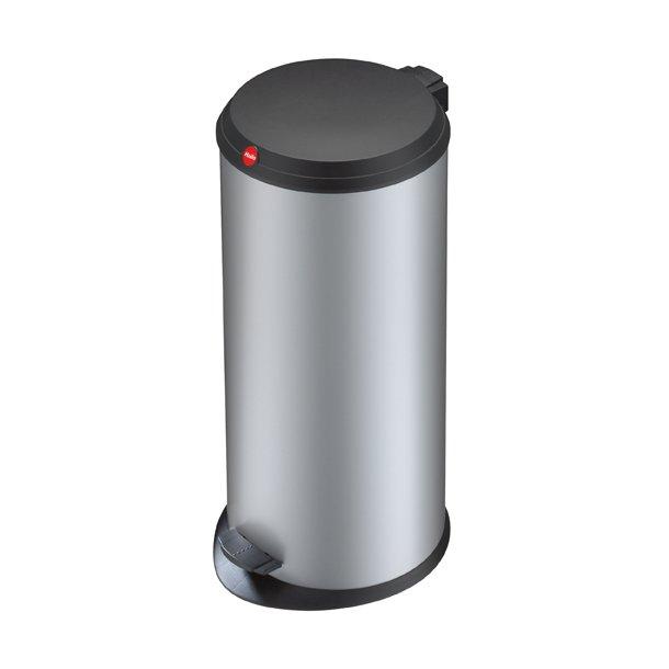 Hailo T1. Pedalspand 20 Liter Med Plastik Låg - Silver
