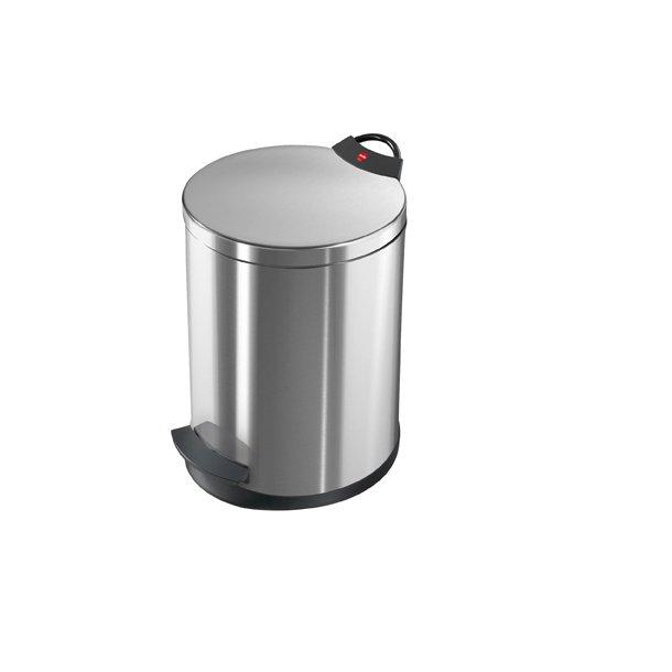 Hailo T2. Pedalspand 13 Liter - Rustfrit Stål Anti-fingeraftryk