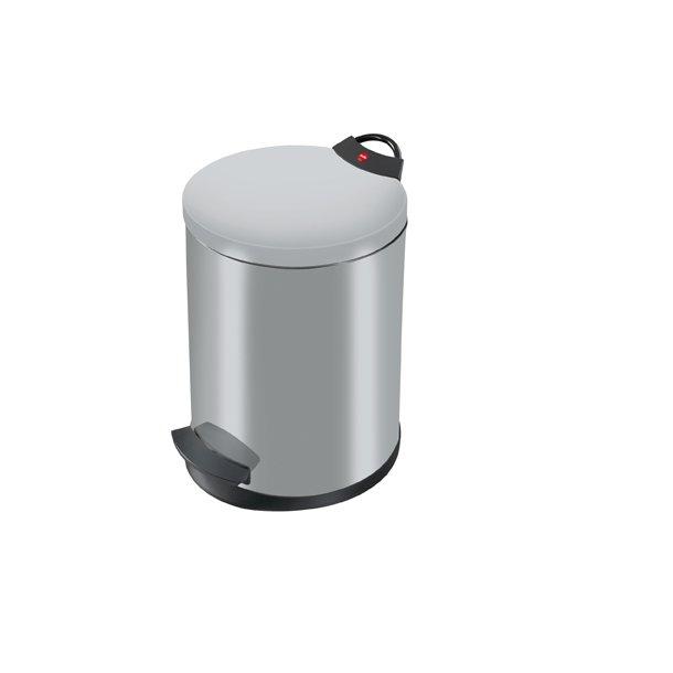 Hailo T2. Pedalspand 13 Liter - Silver