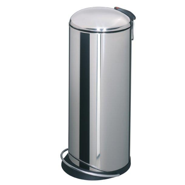 Hailo TOPdesign Pedalspand 26 Liter - Mat Stål