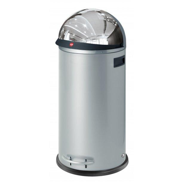 Hailo KickVisier 50 Liter Affaldsspand - Silver