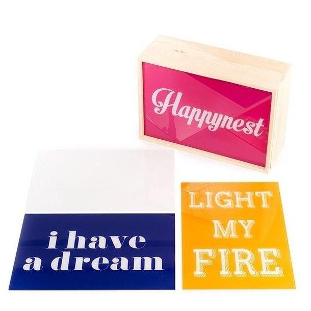 Seletti Lightthink Box - Lyskasse m 3 Forskellige Tekster