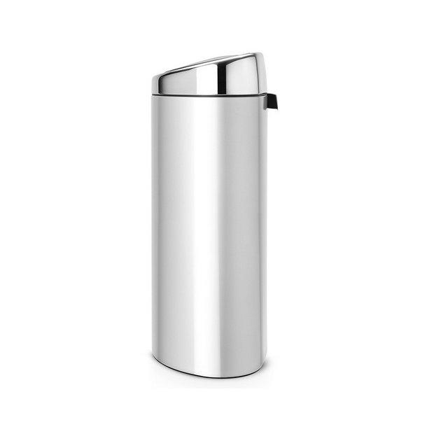 Brabantia Prullenbak 40 Liter.Brabantia Touch Bin 40 Liter Metallic Grey