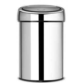 Brabantia Touch Bin 3 Liter - Blank Stål - Væghængt