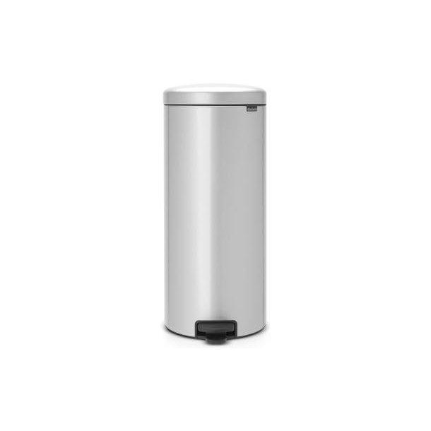 Brabantia Pedalspand newIcon 30 Liter Metallic Grey / Grå - 114465