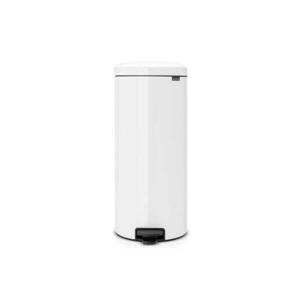 Brabantia Pedal bin newIcon 30 Liter With Metal Inner Bucket - White