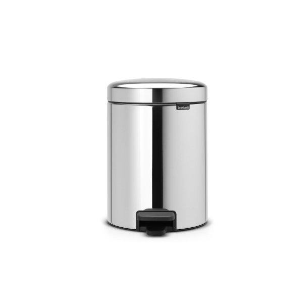 Brabantia Pedal Bin newIcon Metal Inner Bucket 5 Liter - Brilliant Steel