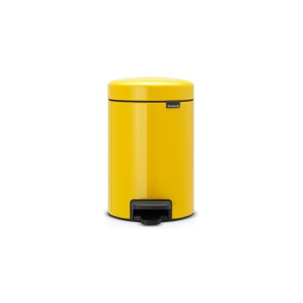 Brabantia Pedalspand newIcon 3 Liter Daisy Yellow / Gul - 113123