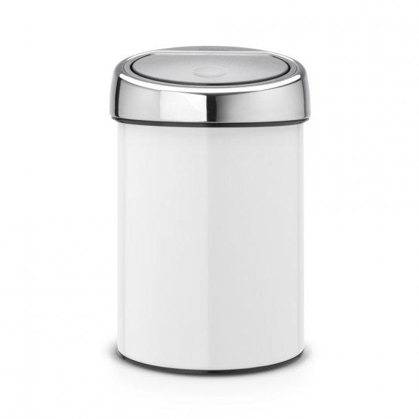 Brabantia Touch Bin Hvid Væghængt 3 Liter - 364488