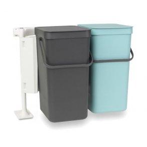Brabantia Sorteringsaffaldsspand Indbygningsmodul Med 2 x 12 Liter