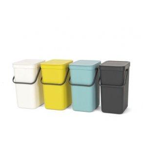 Brabantia Affaldsspand m/ Låg - Affaldssortering 12 Liter