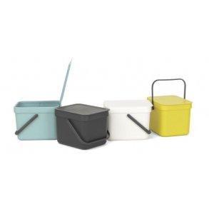 Brabantia Affaldsspand m/ Låg - Affaldssortering 6 Liter