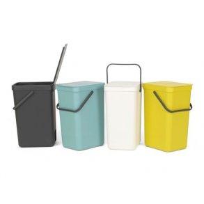 Brabantia Affaldsspand m/ Låg - Affaldssortering 16 Liter