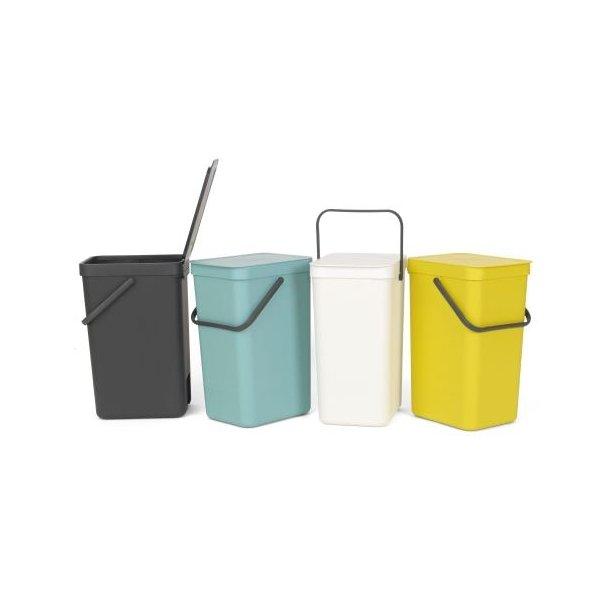 Brabantia affaldsspand m/ låg   affaldssortering 12 liter ...