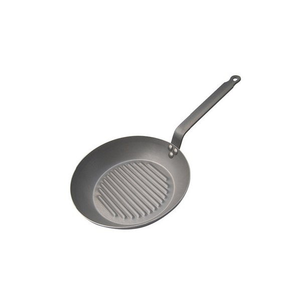De Buyer Round Grill Pan, Carbone Plus