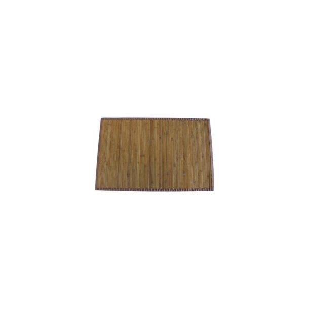 MSV Badeværelsesmåtte Bambus 50 x 80 cm