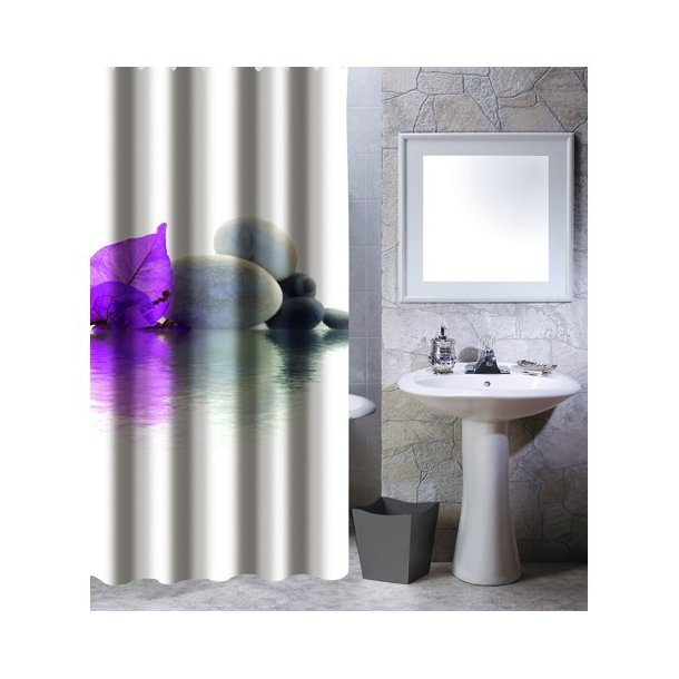 MSV Shower Curtain 180 X 200 Cm Polyester Incl Hooks