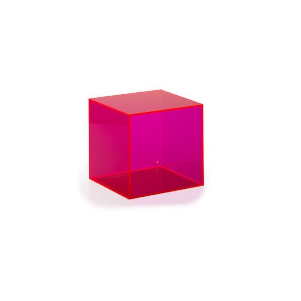 Neon Living Wall Box Square - pink