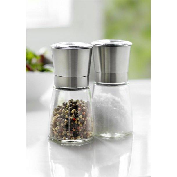 Stålfunktionsuppsättning 2 Salt & Pepper Grinder Stål Låg Transparent / Stål