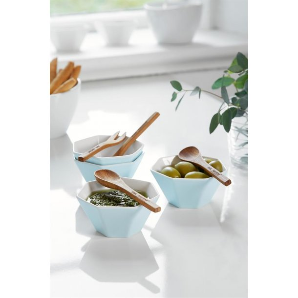 Steel Function Bowls - 4 PCS. - White Porcelain