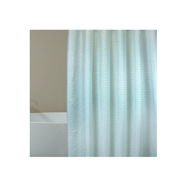 MSV Polyester Shower Curtain 180X200Cm Premium Pastel Green Wave