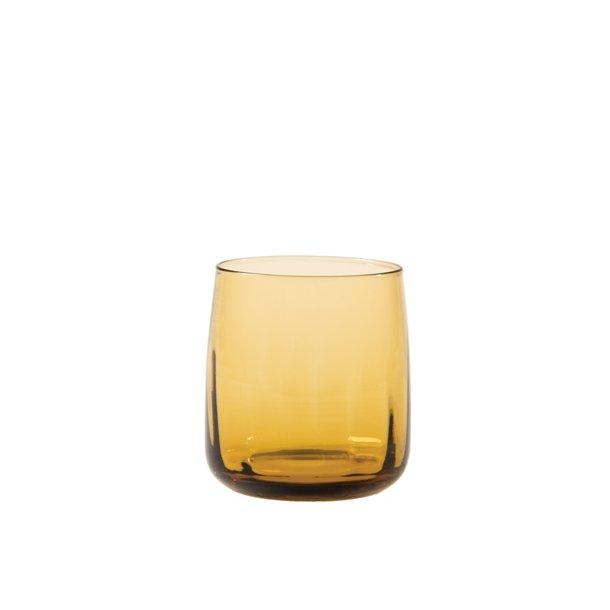 Aida SØHOLM Sonja - Waterglass Amber 30 cl facet pattern 2 pcs giftbox