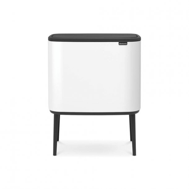 Brabantia BO Touch Bin Sorteringsaffaldsspand, 11+23 liter, 2 inderspande - White