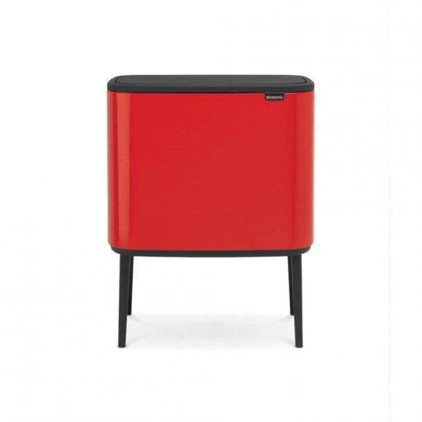 Brabantia BO Touch Bin Affaldsspand, 3 X 11 liter, 3 inderspande - Passion Red
