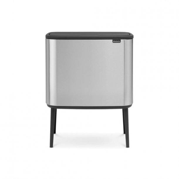 Brabantia BO Touch Bin Affaldsspand, 3 X 11 liter, 3 inderspande - Matt Steel FPP