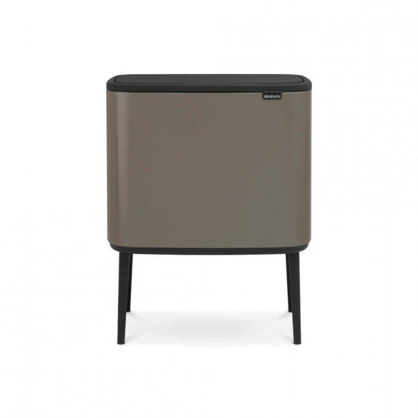 Brabantia BO Touch Bin Affaldsspand, 11+23 liter, 2 inderspande - Platinum