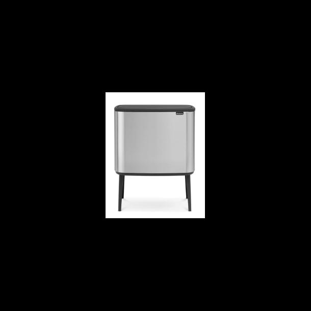 Brabantia BO Touch Bin Affaldsspand, 11+23 liter, 2 inderspande - Mat Stål FPP