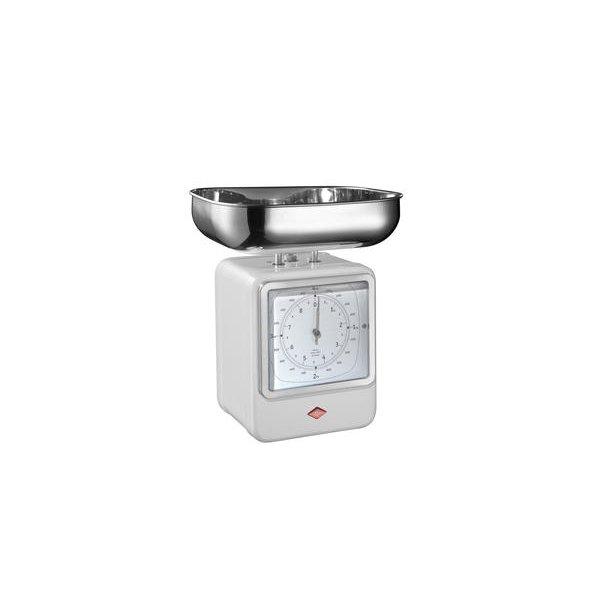 Wesco Retro Køkkenvægt / Ur - Hvid