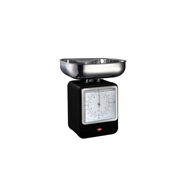 Wesco Retro Kitchen Weight / Clock - Black