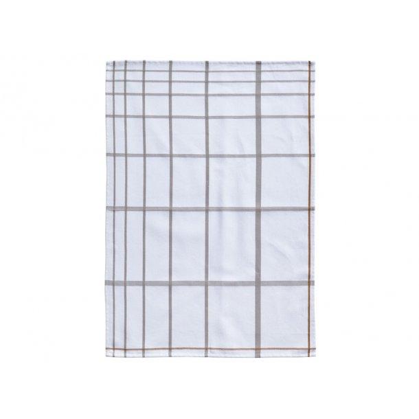 Zone Viskestykke 70 x 50 cm White/Grey - 100% bomuld